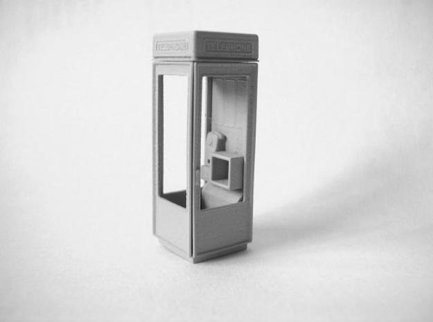 K8 Telephone Box - OO (1:76) scale 3d printed Photo - primed