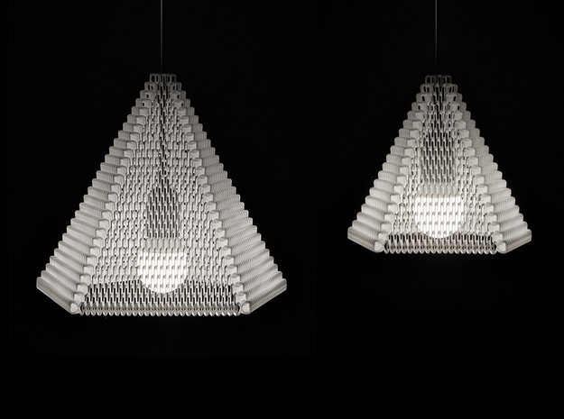 ZooM lampshade L - 27 rows 3d printed Zoom size L (27 rows) + M (19 rows) comparison