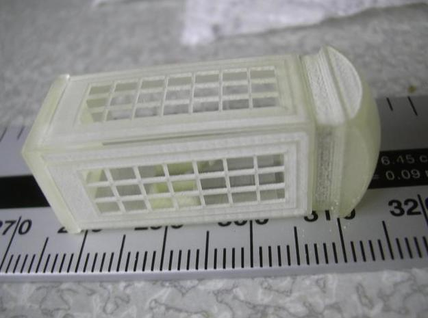 K2 Telephone Box OO (1:76) scale 3d printed Photo - dry assembled model