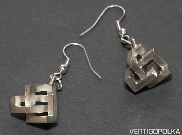 CTK Earrings silver 3d printed CTK Earrings Silver