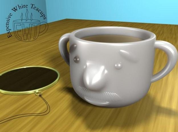 Mustache teacup 3d printed