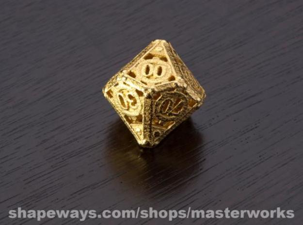Steampunk Percentile 3d printed Gold Plated Glossy