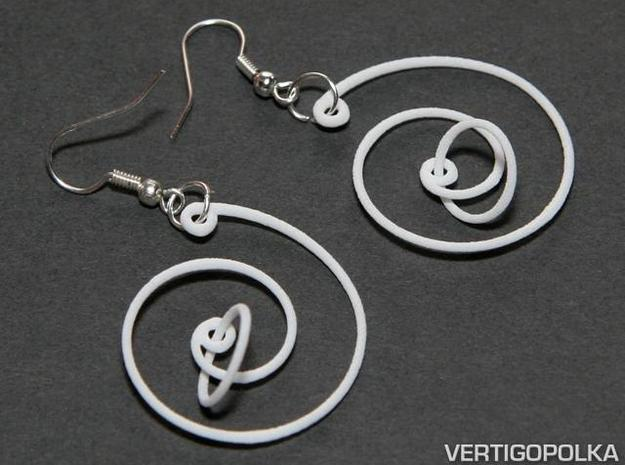 Spiral Earrings 3d printed Spiral Earrings WSF