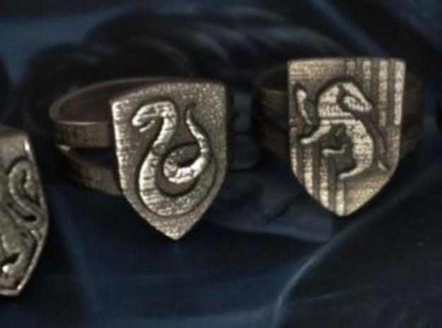 Slytherin Crest Ring 3d printed House Rings