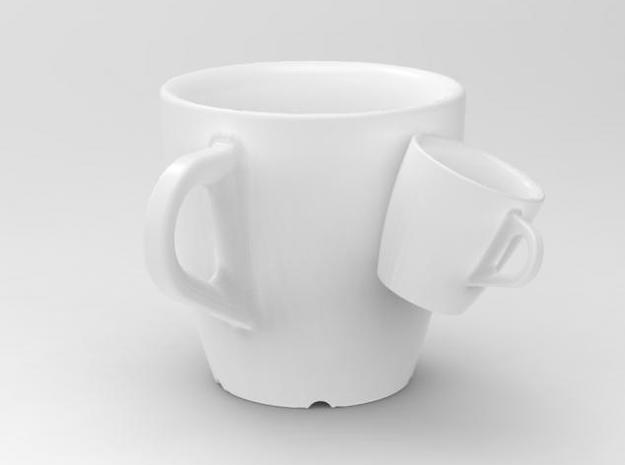 one cup a day | Day 21: Siamese Cup 3d printed siamese cup