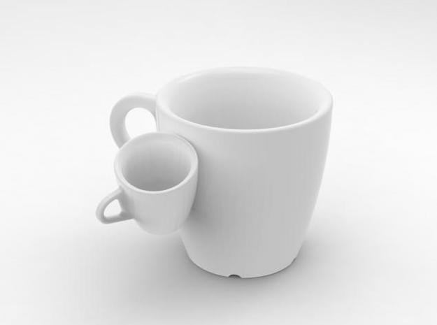 one cup a day | Day 21: Siamese Cup 3d printed view