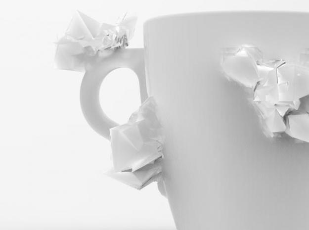 one cup a day | Day 27: Kryptonite Cup 3d printed detal