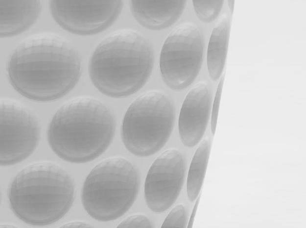 one cup a day | Day 28: Golf Ball Cup 3d printed detail