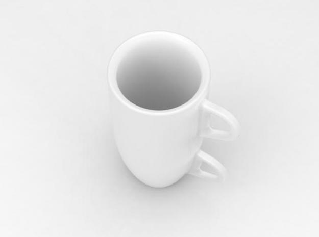 one cup a day | Day 30: Double Espresso Cup 3d printed view