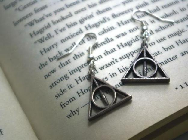 Deathly Hallows Earrings 3d printed 1