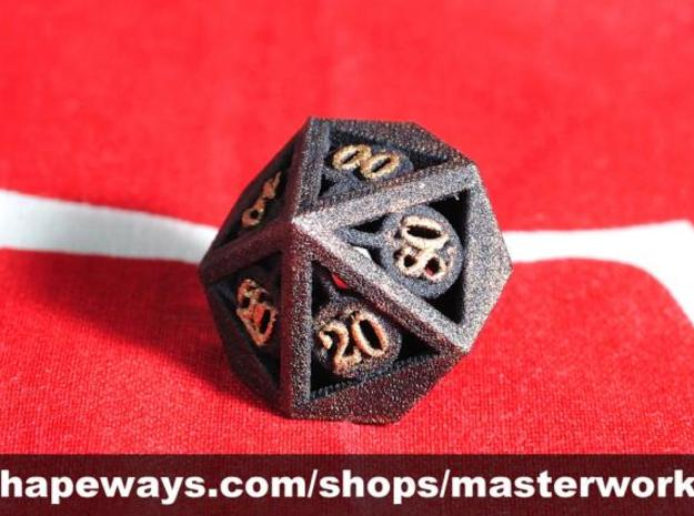 Deathly Hallows d00 3d printed Plastic with Copper & Gold Rub'n'Buff