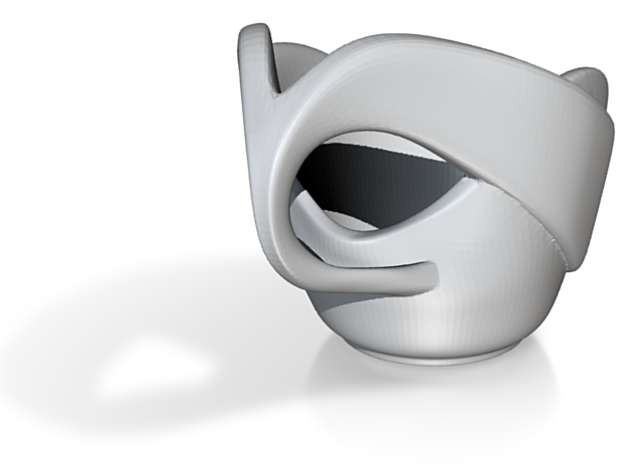 """Espresso Spoon-Holder: """"Open Handle"""" 3d printed Render of the Spoon Holder"""