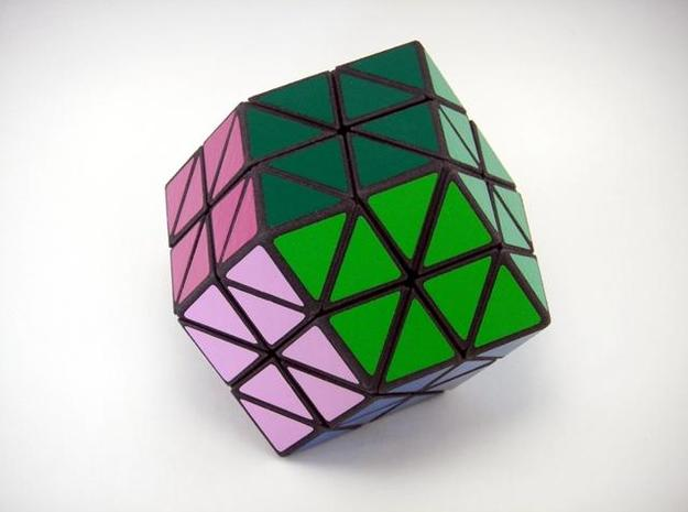 Rhombic18 Puzzle set B 3d printed Solved