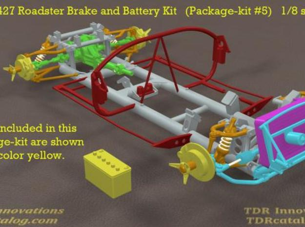 TDR 427 Roadster Brake and Battery Kit 3d printed pic 1