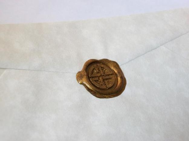 Shield Knot Wax Seal 3d printed How the wax will loo