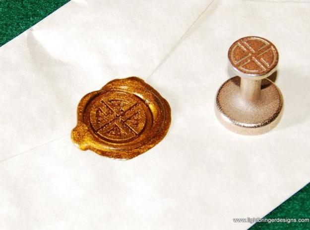 Shield Knot Wax Seal 3d printed