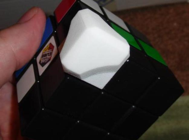 Companion Rubiks Cube Kit -v1a 3d printed Here you can see how the stickers have to be removed first, then the parts glued on.
