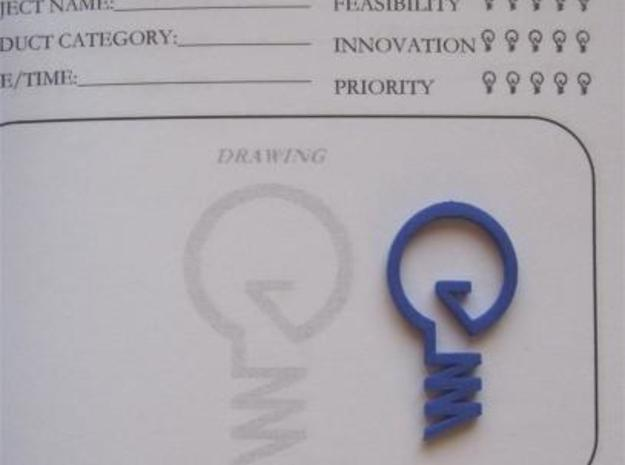 ''INVENT'' Lightbulb Bookmark X 3 3d printed