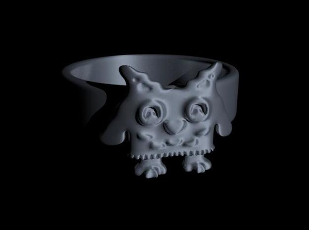 Owl Ring size 7 3d printed Owl ring size 7