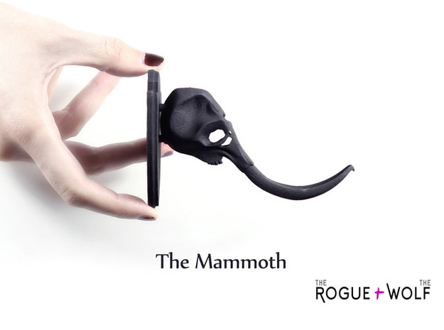 The Mammoth Mini Faux Taxidermy 3d printed