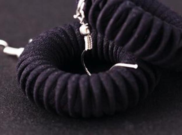 TORUS - earrings 3d printed Black