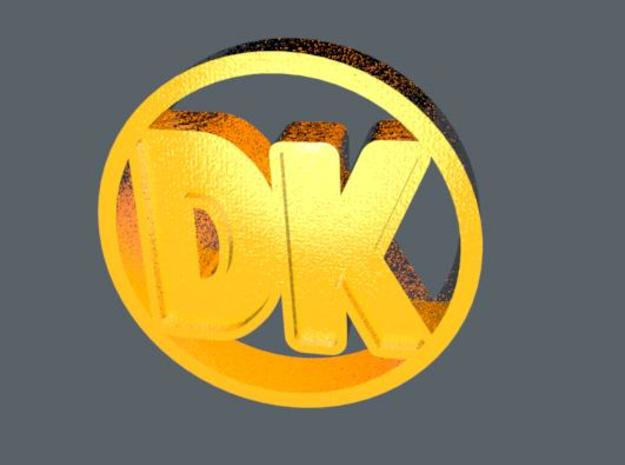 "DK Coin 3d printed This was the best ""gold"" texture I could do. It might look like this."