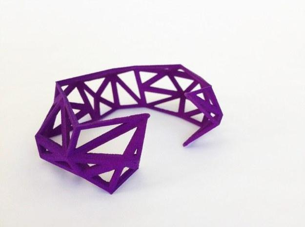 TRIANGULATED CUFF Size Small (other sizes availabl 3d printed