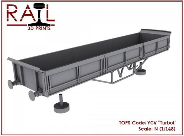 "YCV ""Turbot"" Ballast Wagon N Scale (1:148) 3d printed"
