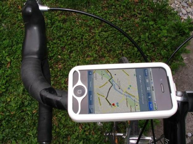 "iPhone 4 bike mount assembly 1"" 3d printed"