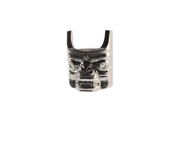 Totem Pole Bear Ring 3d printed