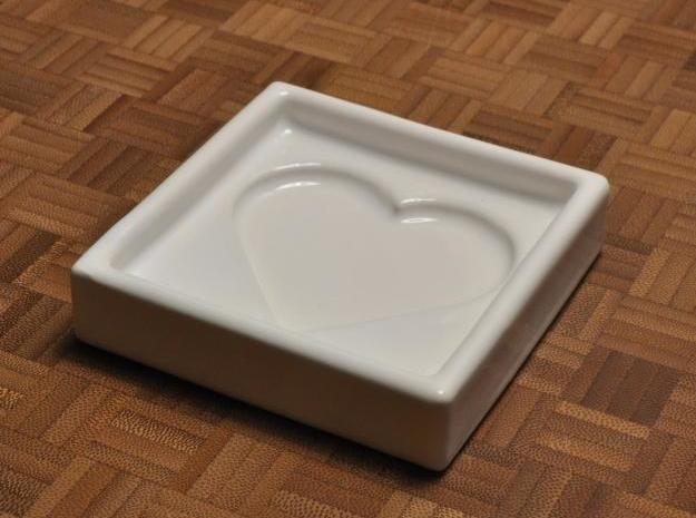 Heart Dipping Dish 3d printed