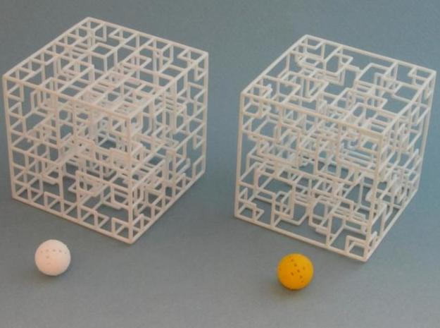 Mix-pack 4 - Big 3d printed with one ball painted yellow