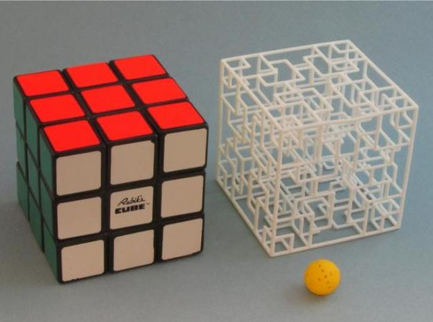 Twisted Symmetry 3d printed same size as Rubik's Cube