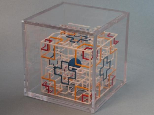 Twisted Symmetry 3d printed In Large Display Case - Sold Separately
