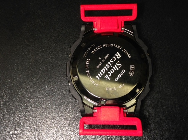 Model 1624 G-Shock NATO/ZULU adapter 3d printed