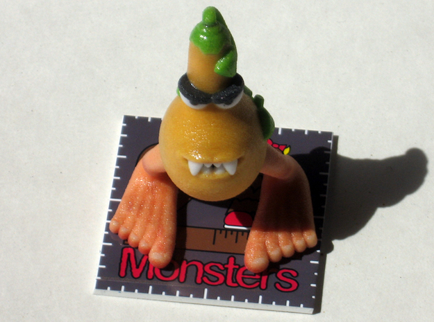 2 Inch Monsters: Batch 01 3d printed Sasquash on his stand.