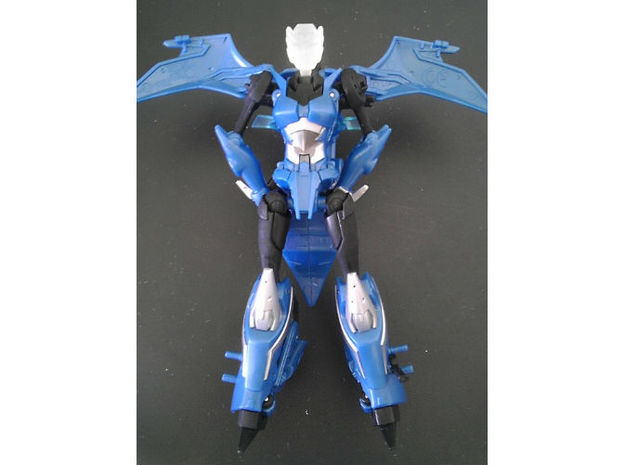 Chromia homage Indigo U128R Head For RID RC 3d printed Indigo Head in Frosted Ultra Detail on Deluxe TF Prime Arcee