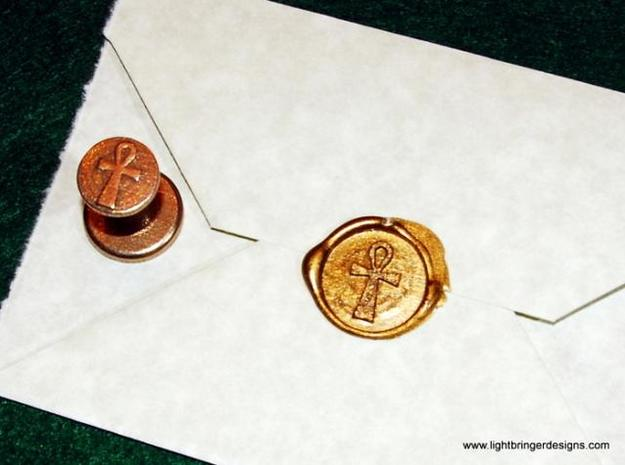 Ankh Wax Seal 3d printed