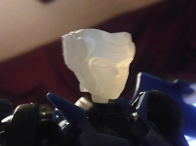 NANCY homage She-bop For TFP RID RC R 3d printed She-Bop Head in Frosted Ultra Detail