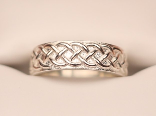 Celtic Wedding Band Braid Size 7 3d printed Size 7
