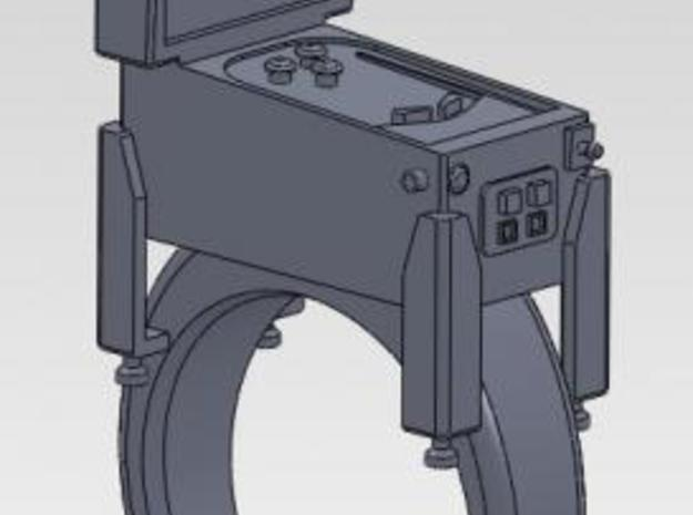 pinball ring 3d printed as shown in solidworks, detail may vary