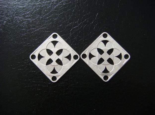 Elegant Earrings - Four Fountains 3d printed Sterling Silver