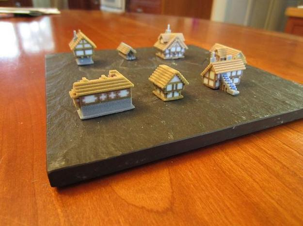 Medieval Buildings mini 3d printed