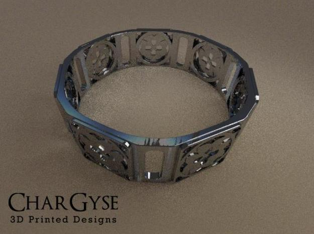 Bangle - Eight Petals Crossed 3d printed Rendered in Blender