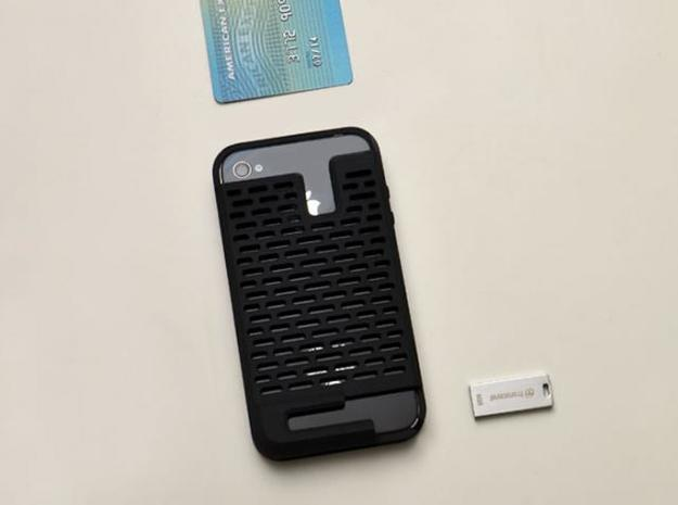 iphone4 & iphone4s case for your card & usb drive 3d printed multi-functional