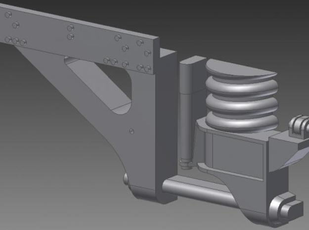 N Scale Superliner II Bolster Anchors 3d printed Single Bolster Anchor Detail