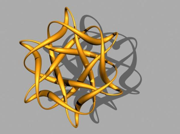 Knot3_Pendant Star 3d printed