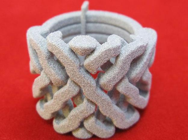 Ring set 2 Weave-Six Cross-Rings Holistic-Ri 3d printed Sixth Sense