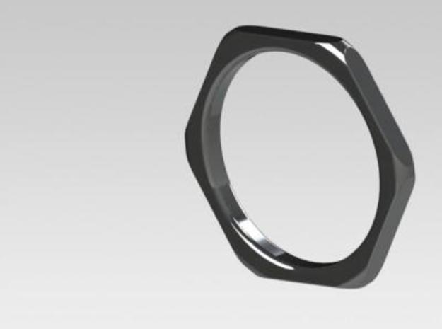 Thin hex nut ring 3d printed