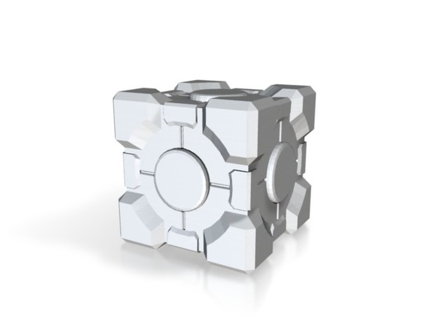 Weighted Storage/Companion Cube (3cm) 3d printed